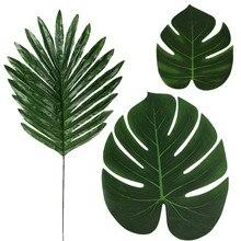 Искусственный лист черепахи тропический Искусственный лист растения Гавайские вечерние праздничные вечерние украшения# C