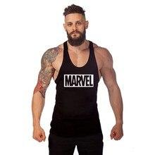 badb019c8dd8f9 2018 new Fashion MARVEL Letter Bodybuilding Stringer Men Tank Top Golds  Gorilla Wear Vest Undershirt Tank