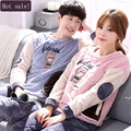 Autumn Long-sleeve Cartoon Lovers Home Clothing Couples Matching Pajamas Adult Minion Pajamas Sets Lovers sleepwear