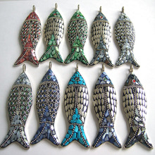 Fashion Escape Fish Race Necklace A Variety Of Colors Turquoise Retro Board Nepal Jewelry Handmade Retro Necklace