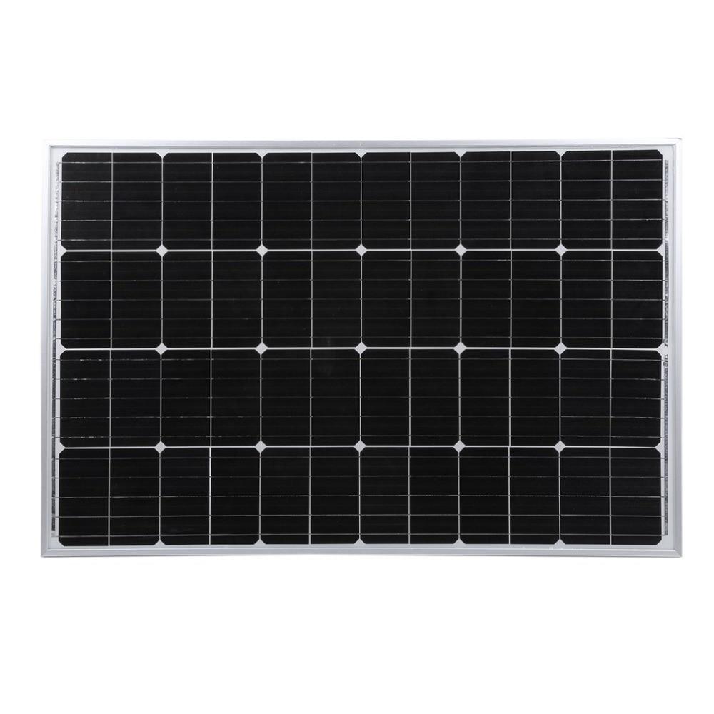 12V 100W Monocrystalline Solar Panel Outdoor Solar Charging Device Resistant Solar Power System For Off Grid RV Boat Car battery