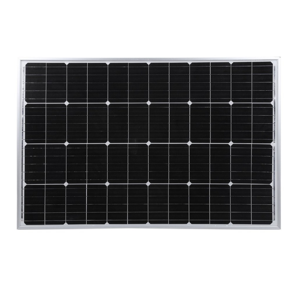 12V 100W Monocrystalline Solar Panel Outdoor Solar Charging Device Resistant Solar Power System For Off Grid RV Boat Car battery