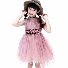 Girl Dress  Kids Children Girls sleeveless Princess dress 110-160cm outfit Clothes 2019 New fashion princess summer