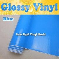 Высокое качество глянцевый синий винил обёрточная бумага синий глянец плёнки Air Free автомобилей наклейки графика Размеры: 1,52*30 м/Roll