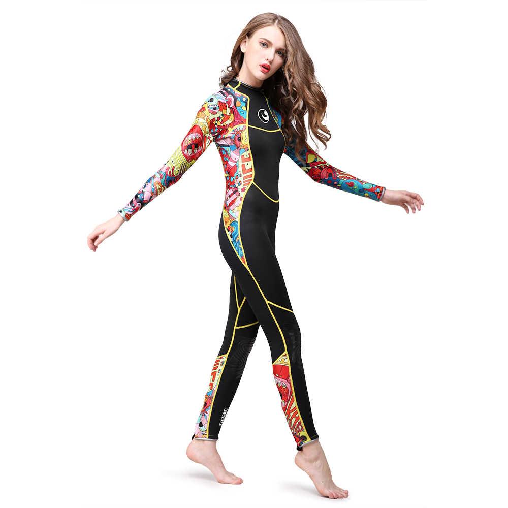3 мм Женский костюм для дайвинга, плавательный гидрокостюм, неопреновый купальный костюм, подводное плавание, одежда для плавания