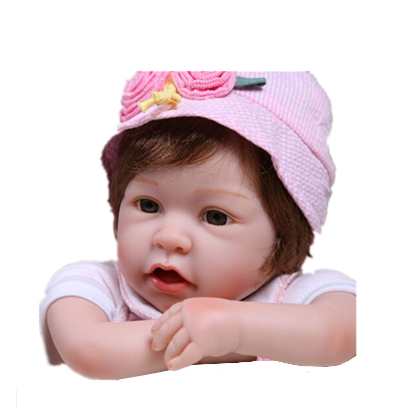 50cm Silicone-Reborn-Babies Bonecas Educational Toys for Children Gift,20 Lifelike Baby Reborn Doll with Clothes dayan gem vi cube speed puzzle magic cubes educational game toys gift for children kids grownups