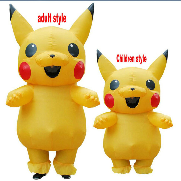 Costume gonflable Pikachu Costume gonflable Cosplay pour adultes tenue hommes femmes mascottes