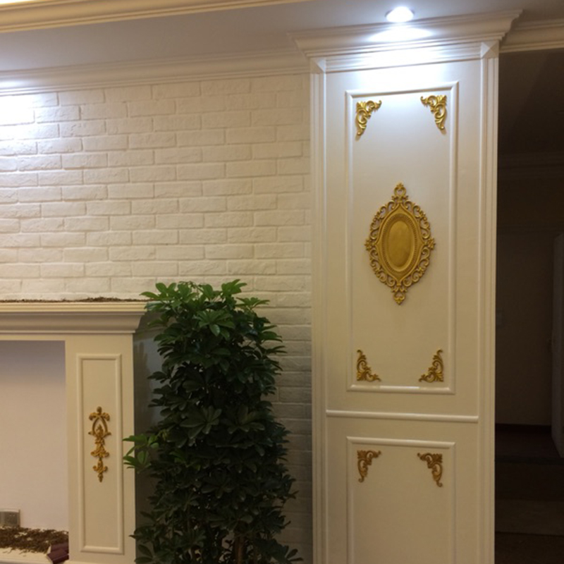 Holz Geschnitzt Ecke Onlay Vintage Applique Frame Wand Türen Möbel Dekorativ