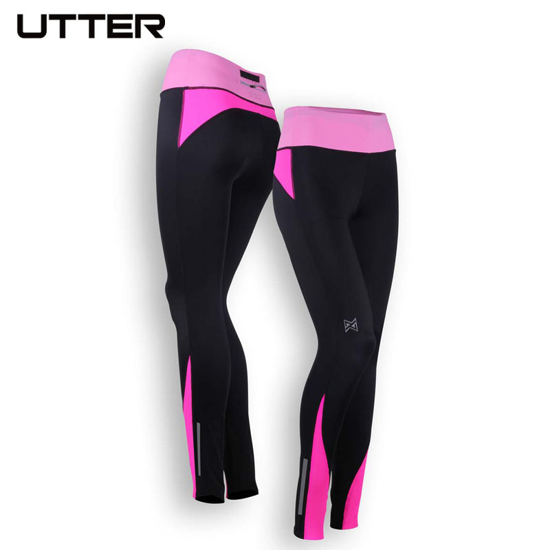2016 UTTER J15 font b Women s b font Sport Long Feature Running Tights Fitness Clothing