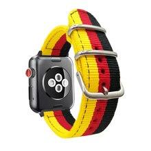 Для Apple 38 мм 40 42 44 Нейлоновый Ремешок Браслет Смарт часы ремешок для iwatch серии 1 2 3 4 немецкий национальный флаг