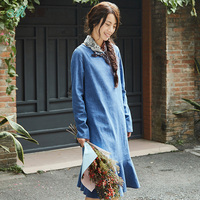 INMAN 2018 New Products Women Spring Embroidered Linen Dress