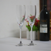 2015 New Design Lead Free Clear Crystal 200ml Wedding Champagne Wine Glass