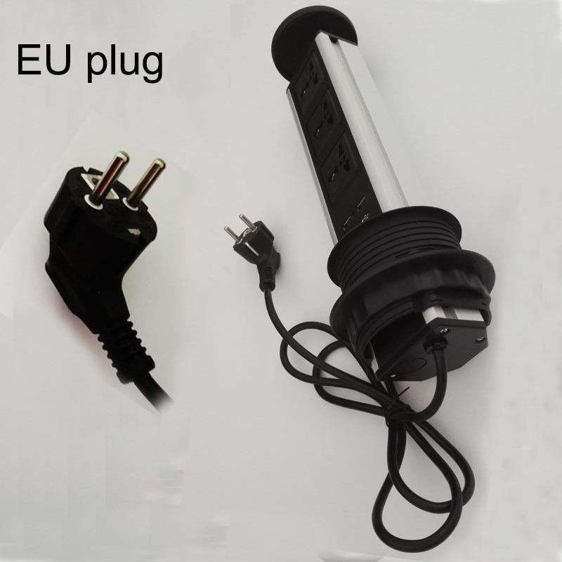 ФОТО EU plug universal av power 3universal power+2charge USB conference furniture desktop tabletop socket send by DHL or Fedex IE