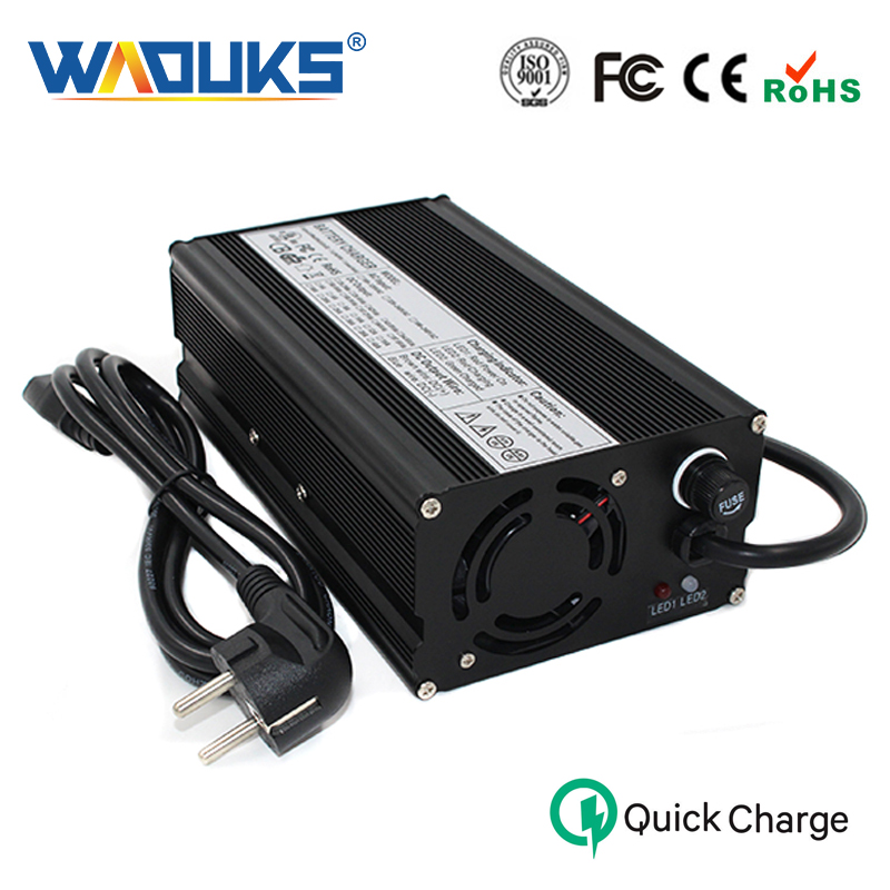 WAOUKS 58 8V 10A Smart Charger For 14S 51 8V Li ion Battery Charger Electric Unicycle