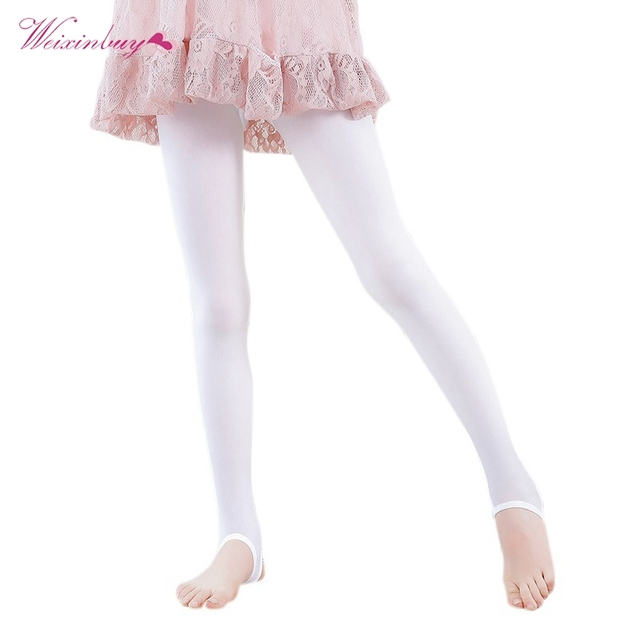 f66a128ce78d3 Children Leggings Solid Baby Girl Child Cute Velvet Pantyhos Stockings Girls  Dance Leggings