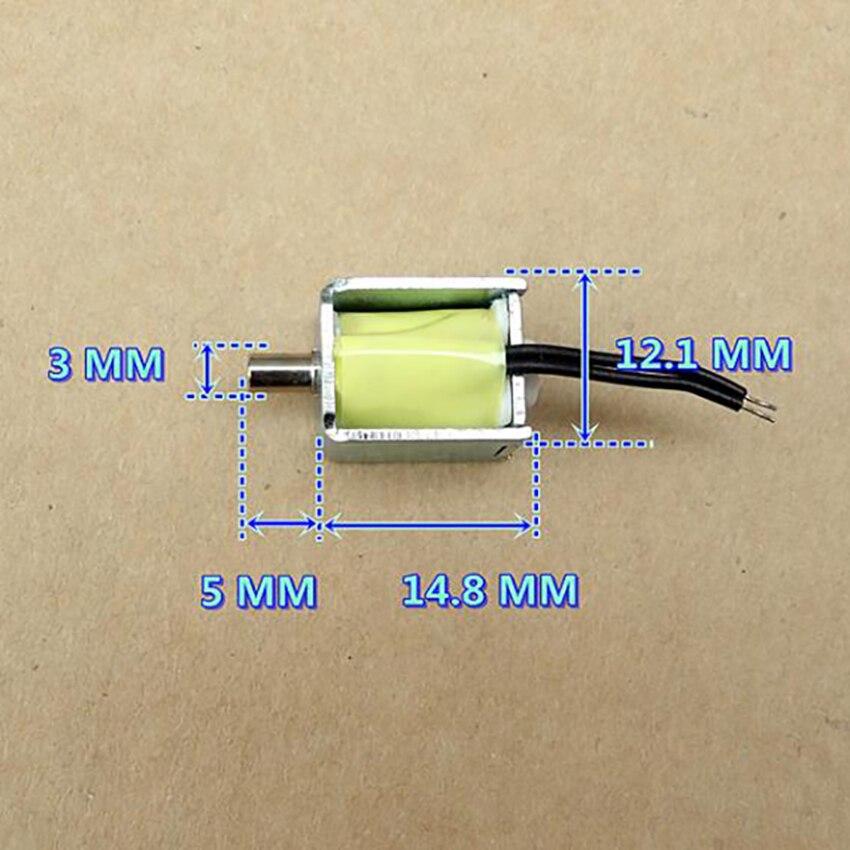 DC 3В 100мА 0,15 Вт микро Соленоидный клапан Сфигмоманометр вентиляционный клапан нормально открытый воздух Выпускной электромагнитный клапан диаметр 3 мм