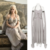 New Cosplay Daenerys Targaryen Costume A Song Of Ice And Fire Game Of Thrones Costume Long