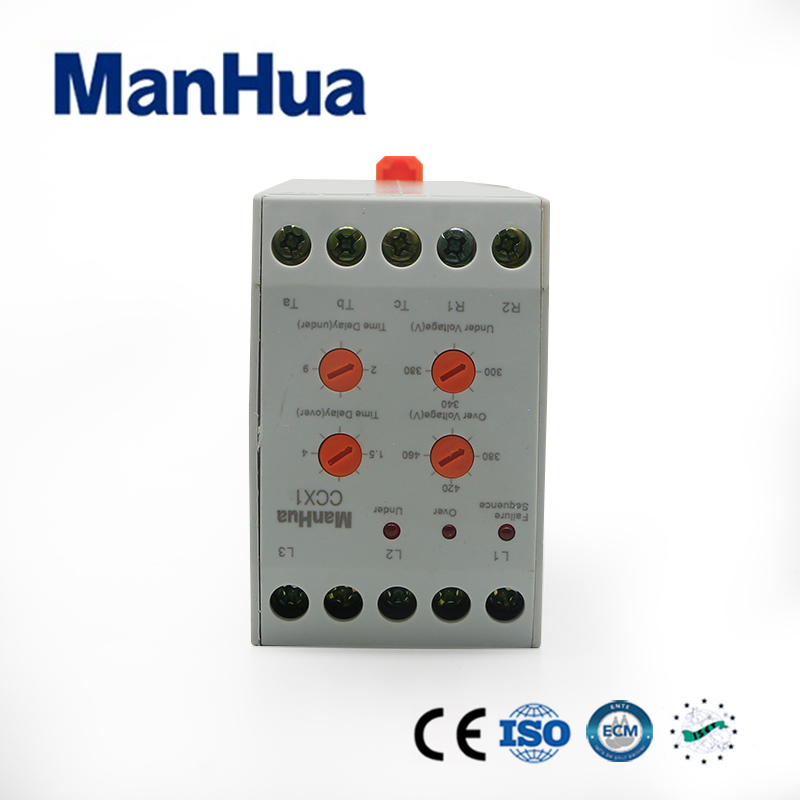 Manhua 2017 New Miniature Arrival Over/Under Voltage Phase Failure Protection Relay XJ11(CCX1) 3 Phase 380V and Netura Sealed gkr 02 voltage monitoring device relay gkr 02 phase failure and phase sequence protection relay for motor protection