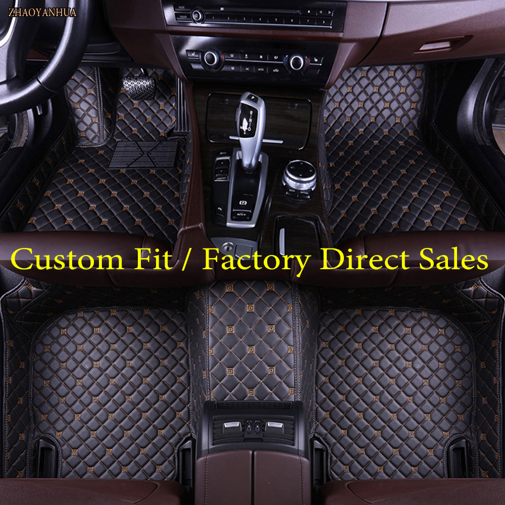 ZHAOYANHUA Car floor mats for Volvo C30 S40 S60L S80L V60 XC60 XC90 5D car-styling heavy duty carpet floor liner