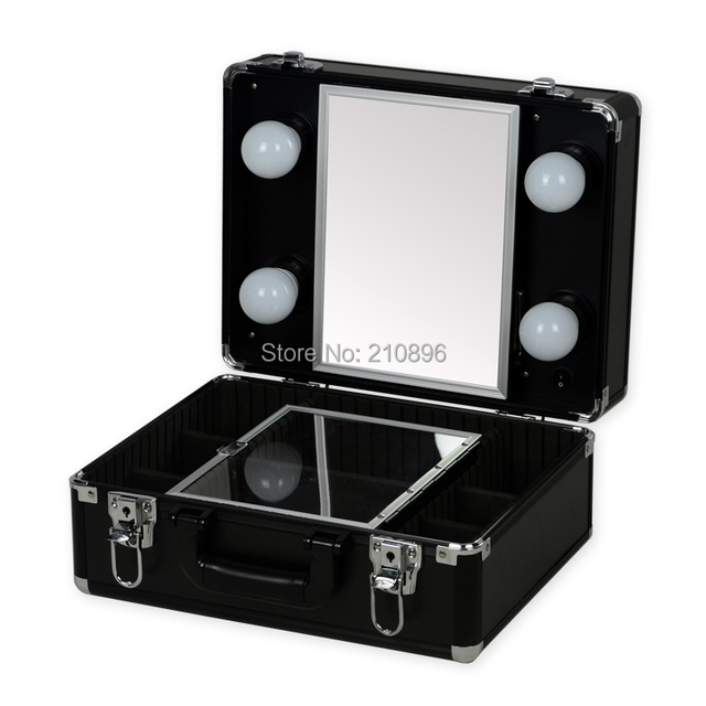 High Quality New Type Portable Makeup Case With Lights Light Weight