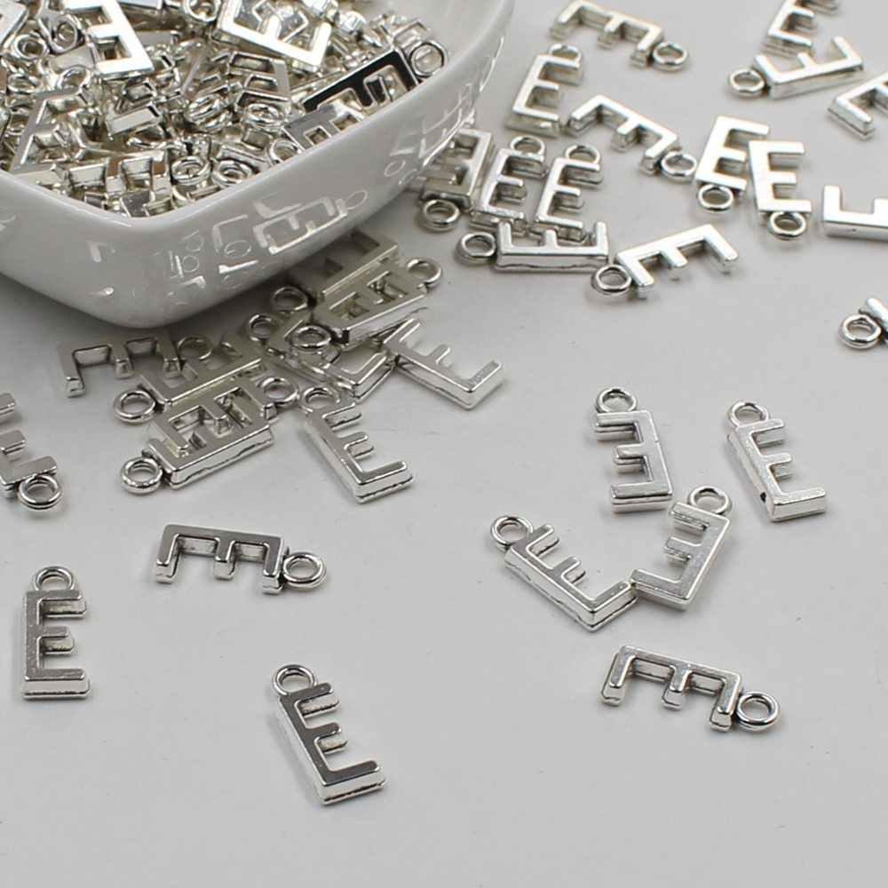 20 pcs Double Side Alfabet (A-Z) Brief Tag Charm Hanger Initialen Sieraden Maken DIY Handgemaakte Craft