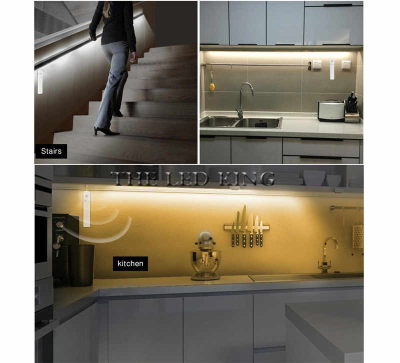 1 M 2 M 3 M 4 M 5 M taśma LED PIR czujnik ruchu światła inteligentny włącz wyłącz oświetlenie łóżka elastyczna taśma LED lampa do szafy schody kuchnia