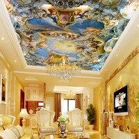 Custom home large mural ceiling frescoed ceilings Western European church ceiling 3D wallpaper myth