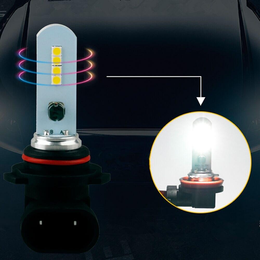 2Pcs H7 LED Bulb H8 H11 9005/HB3 9006/HB4 1200LM 3030 8SMD Super Bright Car Fog Light Bulbs 12V 6000K Auto Led Fog Lamp