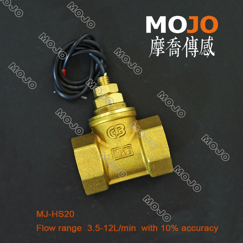 Free shipping!!(3pcs/lot)MJ-HS20 copper G3/4 flow sensor with 3.5-12L/min control water  ...