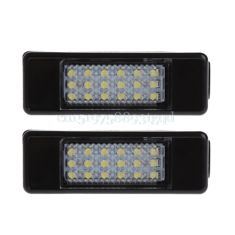 18LED License Plate Light For Peugeot 207 Citroen C2 Pluriel Baujahr Limousine#T518# переходник carav 12 226 iso t citroen 2003 peugeot с разъемом most