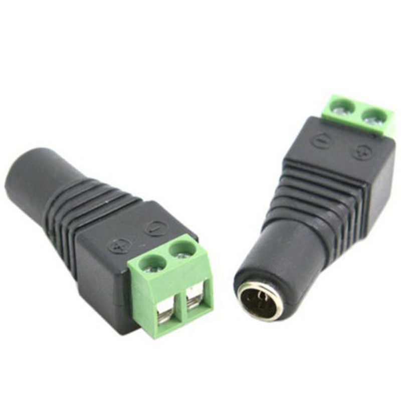 10pcs DC Plug CCTV Camera 5.5mm X 2.1mm DC Power Cable Female Plug  Adapter Jack 5.5*2.1mm To Connection Led Strip