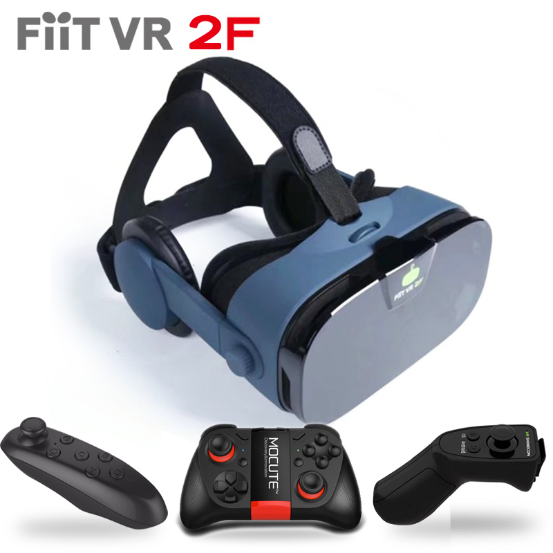 Original FiitVR 2F 112 FOV 42mm Anti-Blue Lenses Stereo Google Cardboard Smartphone 3D Glasses Virtual Reality Headset for 4-6.3