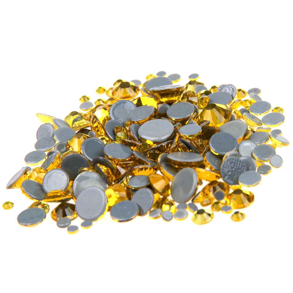 Hotfix Strass 3D Nail Art Decoration Adhesive Rhinestones For Nails Crystal ss6-ss30 And Mixed Citrine Glass Stone Design strass glass ab rhinestones non hotfix ss20 4 8 5 0mm for 3d nails art design decorations crystal for nails gel nail accessories