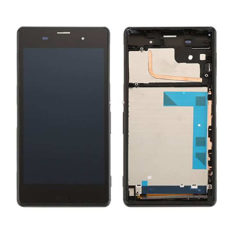 ФОТО AAA Quality For Sony Xperia Z3 D6603 D6653 L55t LCD Display with Touch Screen Digitizer Assembly with frame Free shipping