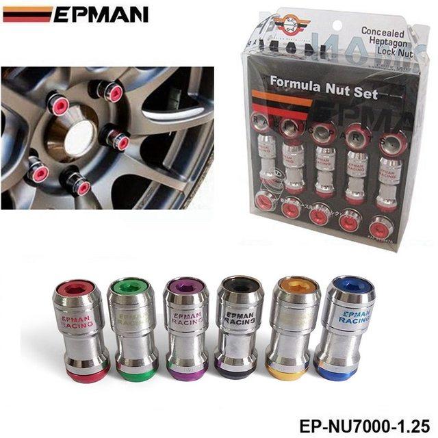 Epman-auténtico epman formula ruedas se bloquean tuercas m12x1.25 20 unids acorn rim end close ep-nu7000-1.25