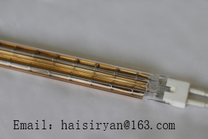 180 degree white/gold coating medium wave IR emitters halogen lamps quartz bulb heating pipe infrared tube resistance
