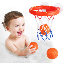 SLPF Kids Funny Bath Toys Baby Bathtub Plastic Shooting Game Toy Basketball Suctions Cups Mini With Ocean Ball Children New L14 toys for children mini basketball shooting board game learning education math toys marble game plastic sensory toys
