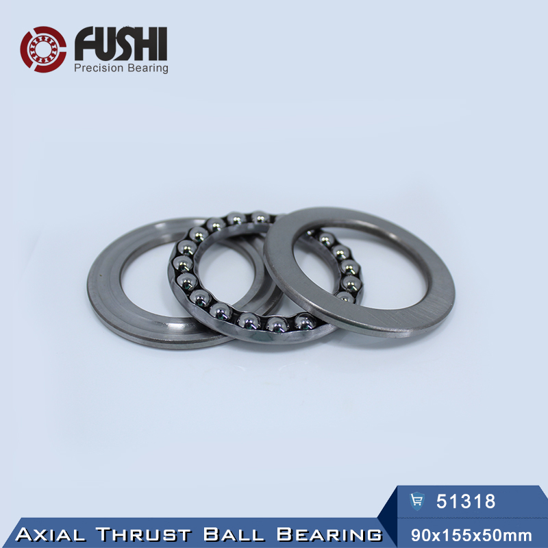 51318 Thrust Bearing 90*155*50 mm ( 1 PC ) ABEC-1 Axial 51318 Ball Bearings 8318 цена