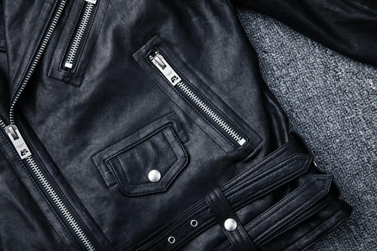 HTB1CLZ6llnTBKNjSZPfq6zf1XXaQ MAPLESTEED 100% Natural Sheepskin Tanned Leather Jacket Black Soft Men's Motocycle Jackets Motor Clothing Biker Coat Autumn M111