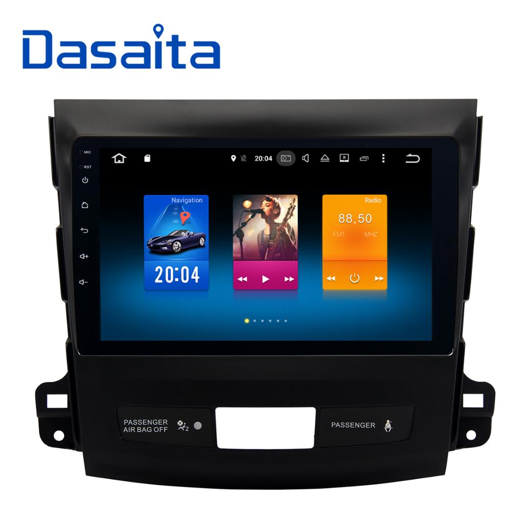 Dasaita 9 Android 6 0 Car GPS Player For Mitsubishi Outlander 2007 2011 With Octa Core