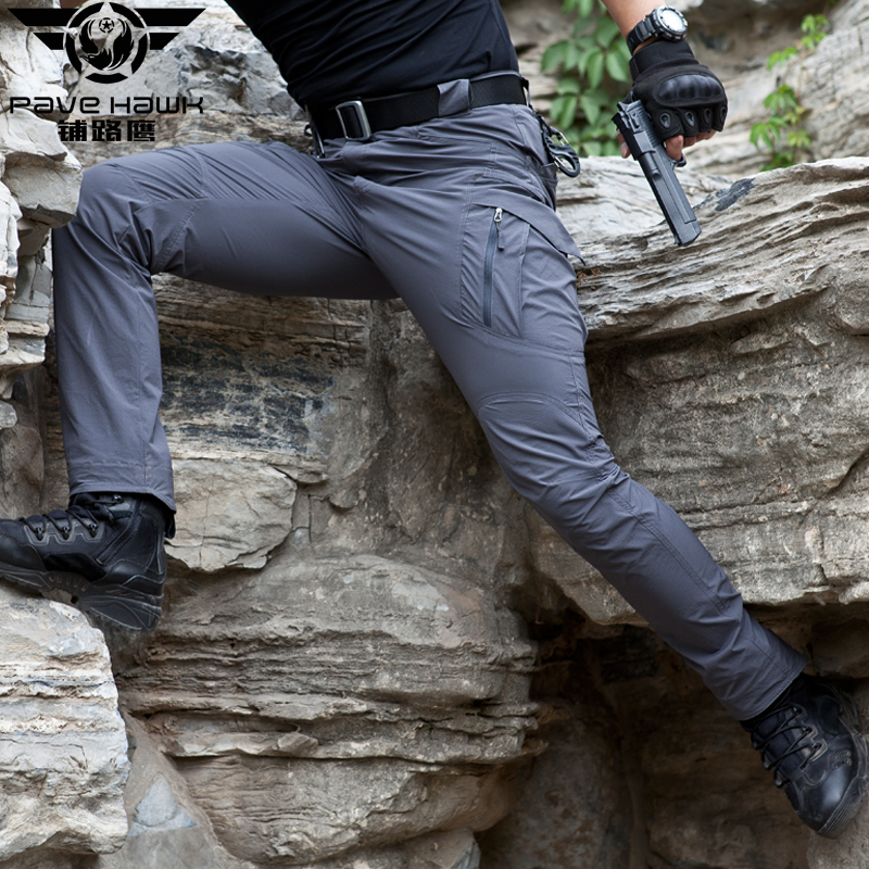 Image 2 - IX9 Stretch Hiking Pants Men Outdoor Sports Trekking Camping Fishing Cargo Waterproof Women Trousers Military Tactical Pants-in Hiking Pants from Sports & Entertainment