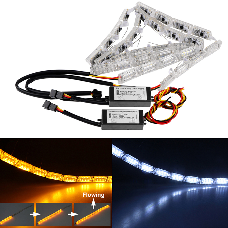 2pcs car flexible switchback led knight rider strip light. Black Bedroom Furniture Sets. Home Design Ideas