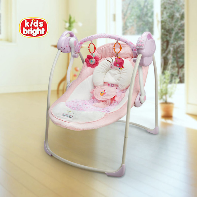 Free Shipping Electric Baby Swing Chair Musical Baby Bouncer Swing Newborn Baby  Swings Automatic Baby Swing