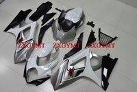 Комплект обтекателей для GSXR 1000 2007 2008 K7 Обтекатели для Suzuki GSXR1000 2008 серебро белые Обтекатели GSX R1000 08