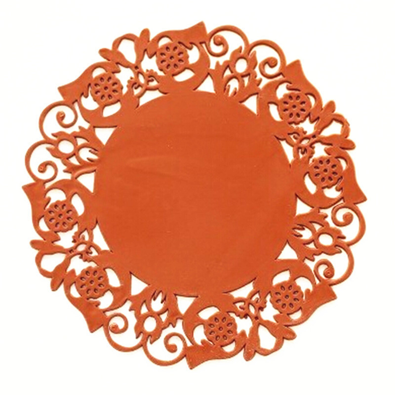 BPBig redLace Flower Hollow Doilies Silicone Coaster Coffee Table Cup Mats Pad Kitchen Accessories Cooking Tools FK-CZD