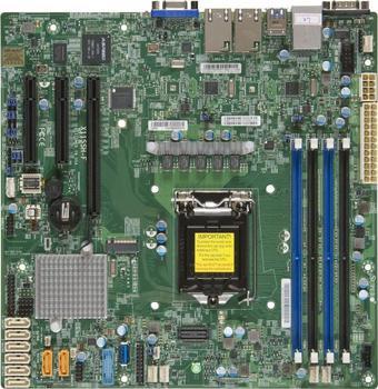 OEM X11SSH-F single E31200V5 / V6 dual Gigabit C236 chip 1151-pin server board фото