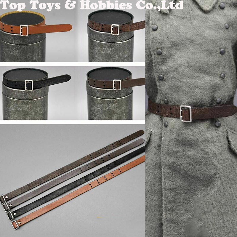 1 6 scale leather belt model black brown color belt fit for 12 39 39 female male action figure accessory in Action amp Toy Figures from Toys amp Hobbies