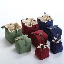 XMT-HOME чайный набор, тканевый пакет для одного чайника, две чашки/четыре чашки, портативный хлопковый льняной чайник, завязанные чайные чашки, сумка, 1 шт