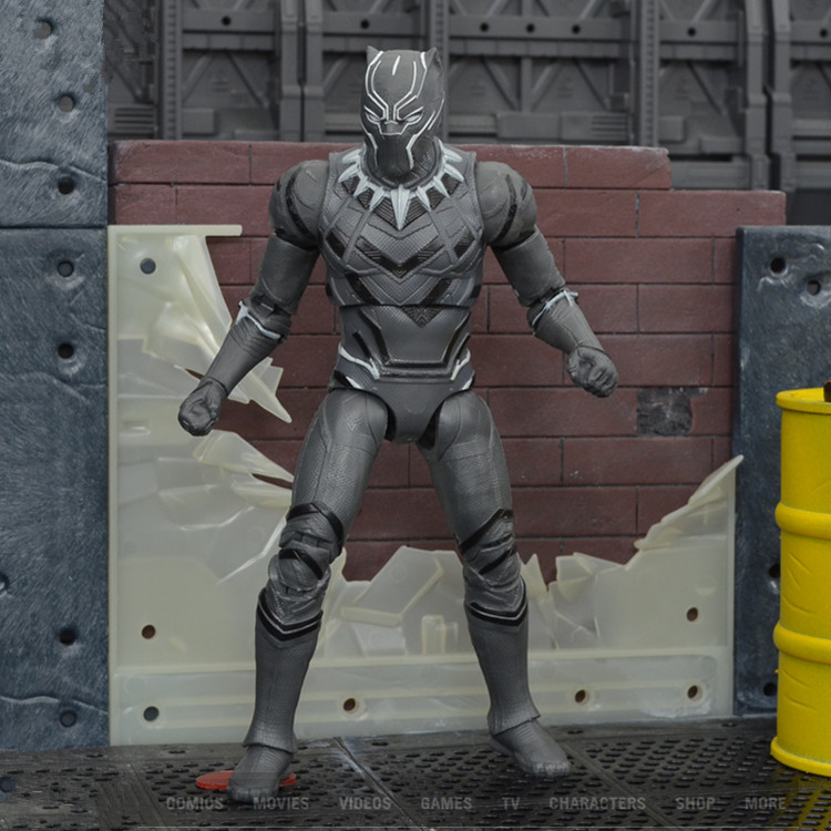 Civil Protection Toys : Captain american action figures black panther anime game