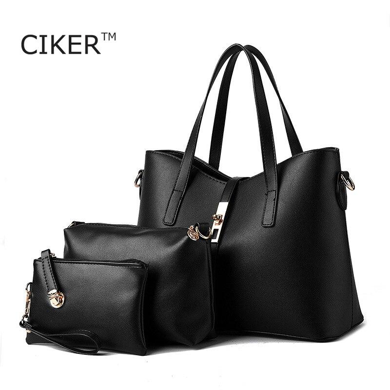 CIKER New women leather handbag bags women famous brands designer handbags high quality Handbag Messenger Bag